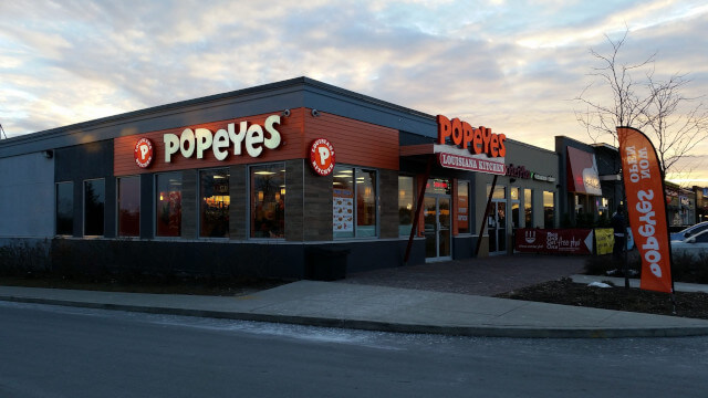 Popeye's fast food building image
